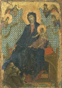 Duccio, Maria mit Kind u.Franziskanern by AKG  Images