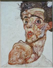 Egon Schiele, Selbstbildnis 1912 von AKG  Images