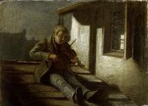 Carl Spitzweg, Geiger auf dem Dach by AKG  Images