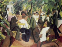 August Macke, Gartenrestaurant by AKG  Images