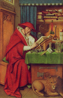 Jan van Eyck, Hl.Hieronymus im Gehaeuse by AKG  Images