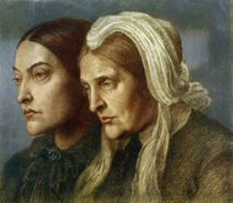 Christina G.Rossetti und Mutter 1877 by AKG  Images