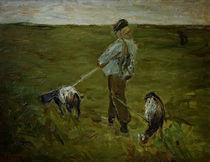 M.Liebermann, Junge mit Ziegen by AKG  Images