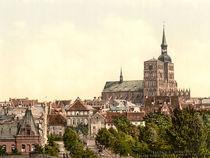 Stralsund, Innenstadt mit Nicolaikirche by AKG  Images
