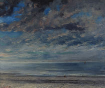 G.Courbet, Strand bei Sonnenuntergang by AKG  Images