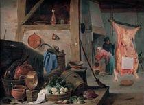 D.Teniers d.J., Kueche mit Stilleben by AKG  Images