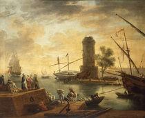 Cl.J.Vernet, Hafen am Mittelmeer von AKG  Images