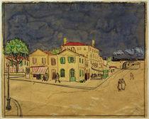V.van Gogh, Das gelbe Haus (Aquarell) von AKG  Images
