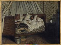 Claude Monet verwundet / Gem.v.Bazille by AKG  Images