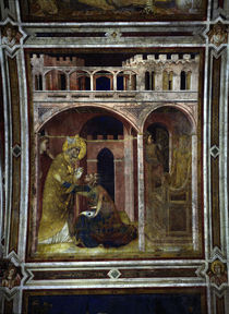 Simone Martini, Hl.Martin Feuerwunder by AKG  Images