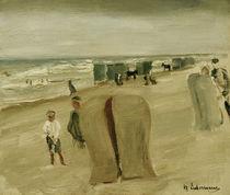 Max Liebermann, Strand mit Strandkoerben by AKG  Images