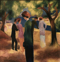 August Macke, Dame in gruener Jacke von AKG  Images