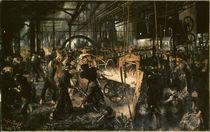 Menzel/Eisenwalzwerk/1875 von AKG  Images