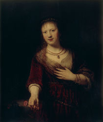Rembrandt, Saskia mit roter Blume by AKG  Images