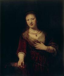 Rembrandt, Saskia mit roter Blume von AKG  Images