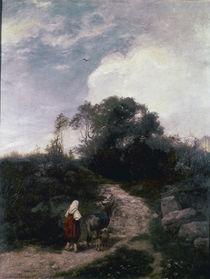 Hans Thoma, Die Eseltreiberin/ 1869 von AKG  Images