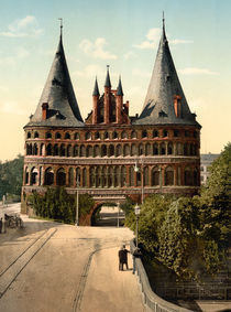 Luebeck, Holstentor / Photochrom by AKG  Images