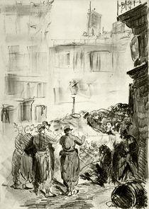 E.Manet, Die Barrikaden von AKG  Images