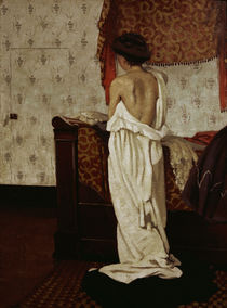 F.Vallotton, Beim Ankleiden by AKG  Images