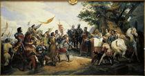 Schlacht bei Bouvines / Gem.v.Vernet von AKG  Images