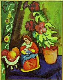 August Macke, Stilleben mit Madonna by AKG  Images