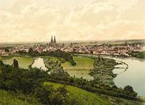 Regensburg, Stadtansicht / Photochrom von AKG  Images