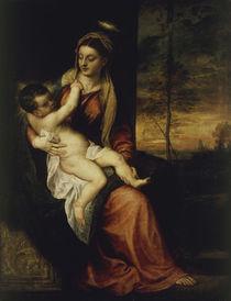 Tizian, Maria mit Kind in Abendlandsch. von AKG  Images