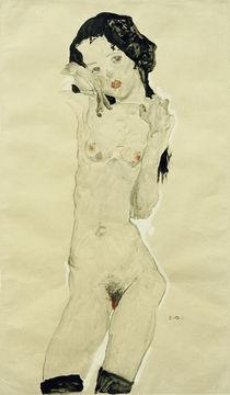 E.Schiele, Schwarzhaariger Maedchenakt by AKG  Images