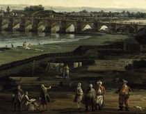 Dresden, Augustusbruecke / Bellotto von AKG  Images