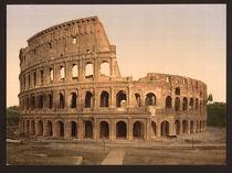 Rom, Kolosseum / Photochrom by AKG  Images