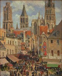 C.Pissarro, Rue de l'Epicerie in Rouen von AKG  Images