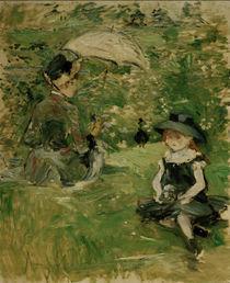 B.Morisot, Junge Frau mit Kind auf Insel von AKG  Images