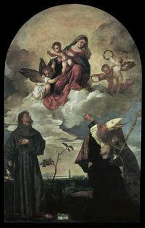 Tizian, Maria mit Kind und Heiligen von AKG  Images