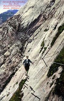 Zugspitze, Besteigung / Postkarte by AKG  Images