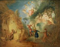 A.Watteau, Der Traum des Kuenstlers by AKG  Images