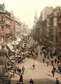 London,Cheapside,Photochrom um 1890/1900 by AKG  Images