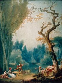 J.H.Fragonard, Spiel mit Pferd u.Reiter von AKG  Images