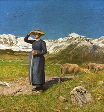 G. Segantini, Mittag in den Alpen by AKG  Images