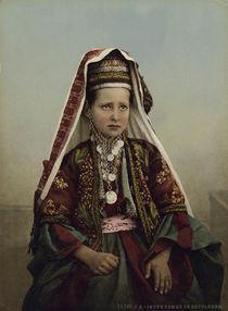 Palaestina, Junge Frau aus Bethlehem by AKG  Images
