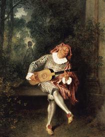 A.Watteau, Mezzetin von AKG  Images