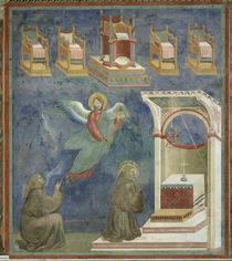 Giotto, Vision der Throne by AKG  Images