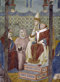 Giotto, Papst Honorius III./Fresko 1295 by AKG  Images