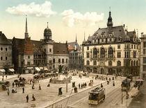 Halle, Marktplatz / Photochrom von AKG  Images
