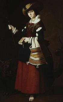 F.de Zurbaran, Hl.Margarete / 1635-1640 von AKG  Images