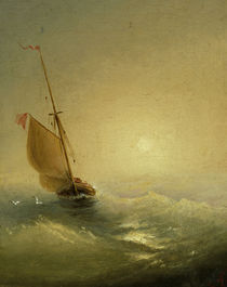 I.K.Aiwasowski, Segelboot bei Sonnenunt. by AKG  Images