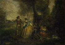 Antoine Watteau, Laendliche Freuden by AKG  Images