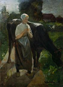 Max Liebermann, Maedchen mit Kuh by AKG  Images