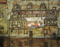 Egon Schiele, Hauswand am Fluss von AKG  Images