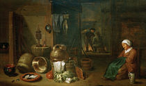 D.Teniers d.J., Die Bauernstube by AKG  Images