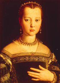 Maria de' Medici / Gem.v.Bronzino by AKG  Images